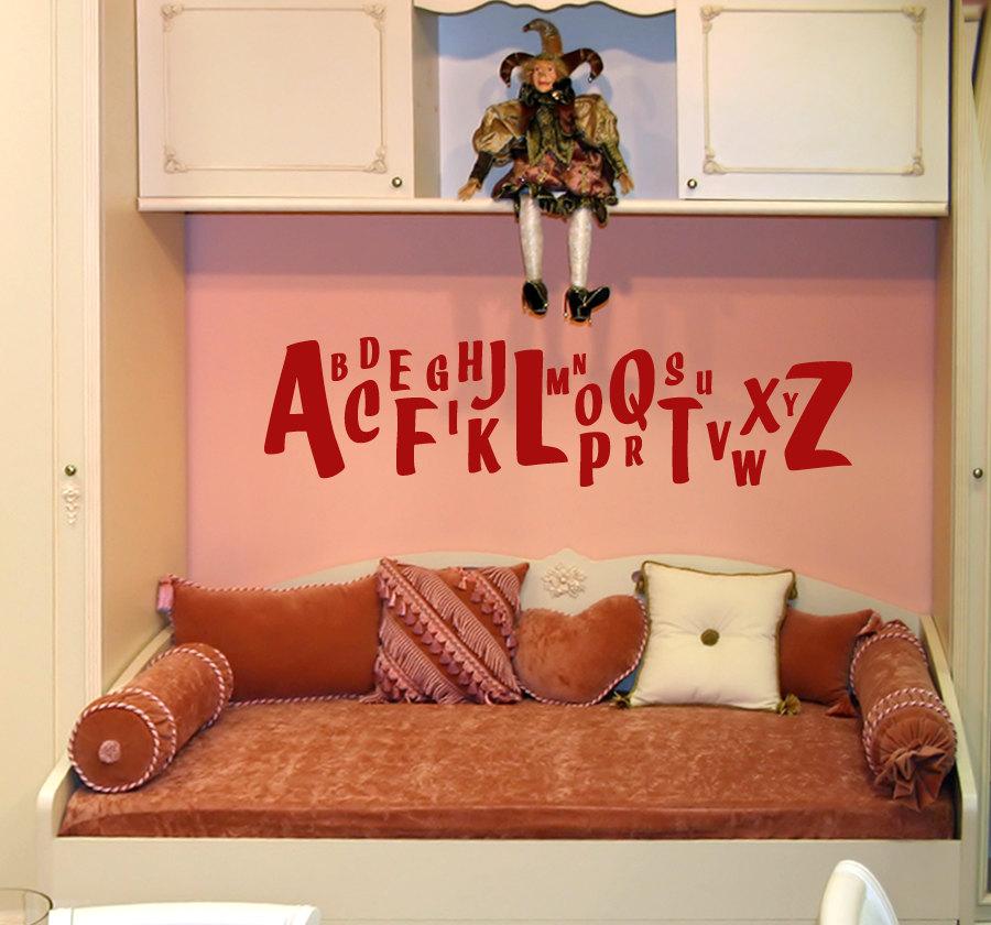 Anna Banana Alphabet Wall Decal Children S Room And Nursery Vinyl Wall Art Decal Sticker