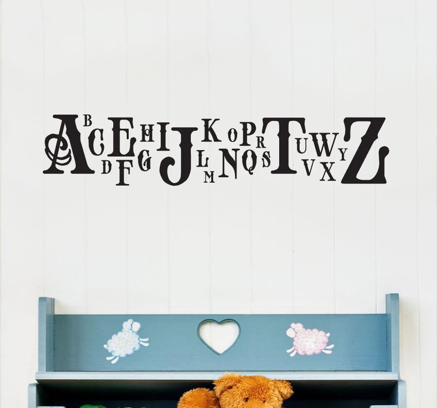 Classic Caps Alphabet Wall Decal Children S Room And Nursery Vinyl Wall Art Decal Sticker