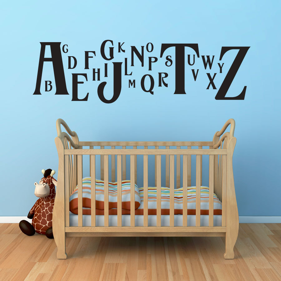 Havana Alphabet Wall Decal - Children's Room and Nursery Vinyl Wall Art Decal Sticker