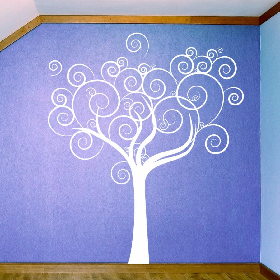 Whimsical Love Tree Wall Decal