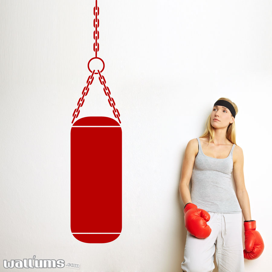 Punching Bag Wall Decal