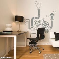 Gears and Gadgets Wall Decal - Vinyl Wall Art Decal Sticker