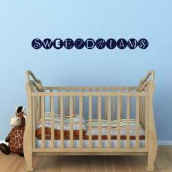 Sweet Dreams Wall Decal - Vinyl Wall Art Decal Sticker