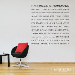 House Rules 48in - Vinyl Wall Art Decal Sticker