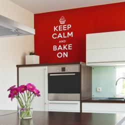 """Keep Calm and Back On Decal - 12"""" x 24.5"""" - Vinyl Wall Art Decal Sticker"""
