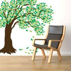 """Giant Windy Tree Wall Decal - Great for nursery's and kids room - 84"""" x 84"""""""