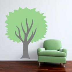 Sculpted Green Tree Wall Decal