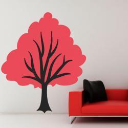 Pink Budding Tree Wall Decal