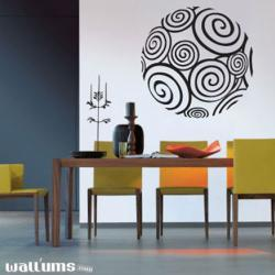 Rounded Spiral - Wall Art Decal